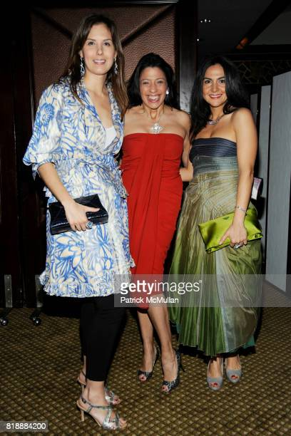 Carineh Martin Lisa Anastos and Melissa Skoog attend Creative Time Annual Benefit honoring Andrea Marc Glimcher at Jing Fong on May 19 2010 in New...