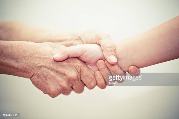 Fürsorgliche beruhigenden Hände