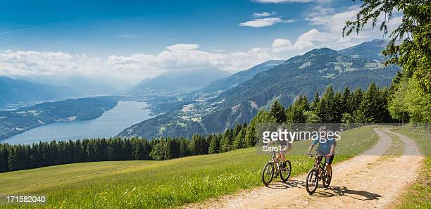carinthian holiday biking, austria - carinthia stock pictures, royalty-free photos & images