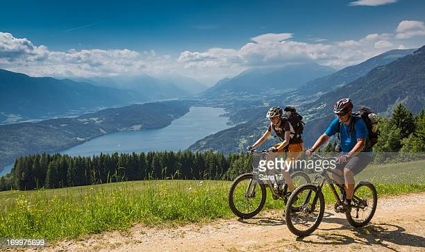 carinthian spring biking, austria - carinthia stock pictures, royalty-free photos & images