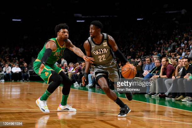 Caris LeVert of the Brooklyn Nets handles the ball against the Boston Celtics on March 03 2020 at the TD Garden in Boston Massachusetts NOTE TO USER...