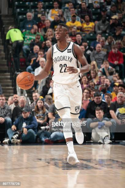 Caris LeVert of the Brooklyn Nets handles the ball against the Indiana Pacers on December 23 2017 at Bankers Life Fieldhouse in Indianapolis Indiana...