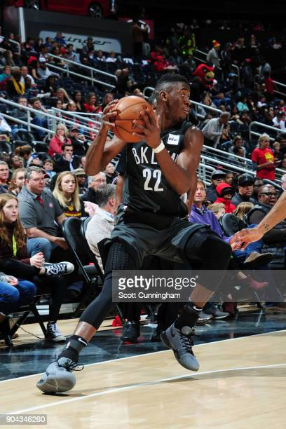 Caris LeVert of the Brooklyn Nets handles the ball during the game against the Atlanta Hawks on January 12 2018 at Philips Arena in Atlanta Georgia...