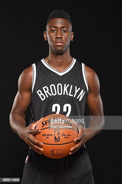 Caris Levert of the Brooklyn Nets poses for a portrait during the 2016 NBA rookie photo shoot on August 7 2016 at the Madison Square Garden Training...