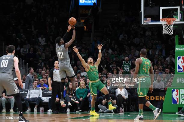 Caris LeVert of the Brooklyn Nets shoots the ball against the Boston Celtics on March 03 2020 at the TD Garden in Boston Massachusetts NOTE TO USER...