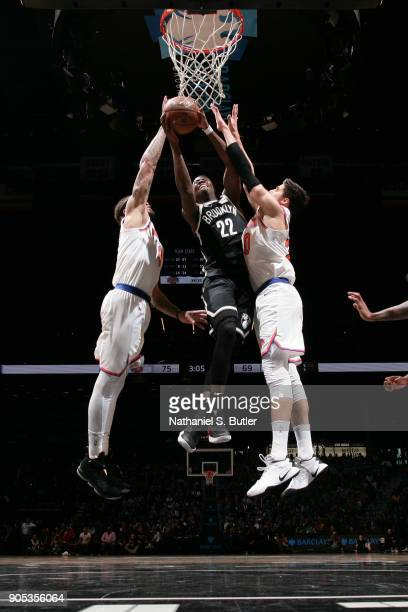 Caris LeVert of the Brooklyn Nets shoots the ball against the New York Knicks on January 15 2018 at Barclays Center in Brooklyn New York NOTE TO USER...