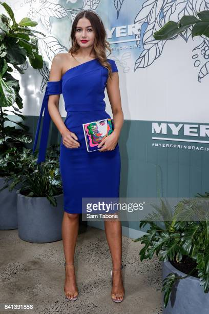 Caris Tiivel during the Myer Spring Racing 2017 Collections Launch on September 1 2017 in Melbourne Australia