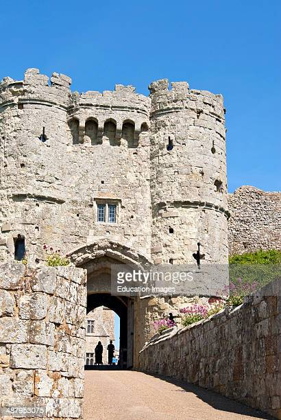 Carisbrooke Castle on the Isle of Wight in South England.
