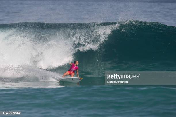 Carissa Moore from Hawaii finished her campaign in 5th after losing to Lakey Peterson in Heat 4 of the Quarterfinals at the Oi Rio Pro in Saquarema,...