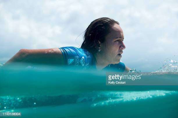 Carissa Moore of Hawaii competing in and winning the 2015 Roxy Pro Gold Coast at Snapper Rocks Gold Coast Australia Moore defeated Stephanie Gilmore...