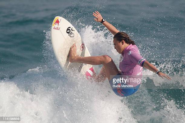 Carissa Moore of Hawaii in action during final of the Billabong Rio Pro at Barra da Tijuca on May 15 2011 in Rio de Janeiro Brazil