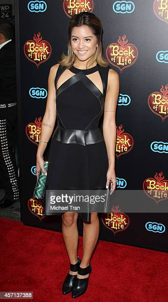 "Carissa Rae Alvarado of Us The Duo arrives at the Los Angeles premiere of ""Book Of Life"" held at Regal Cinemas L.A. Live on October 12, 2014 in Los..."