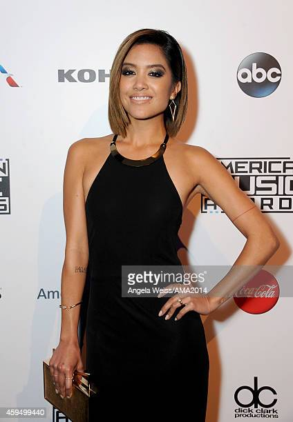 Carissa Rae Alvarado of Us The Duo attends the official 2014 American Music Awards after party at the at Nokia Theatre LA Live on November 23 2014 in...