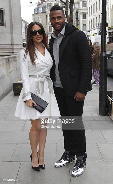 Carissa Rosario and Johnny Gill sighting on February 24, 2015 in London, England.