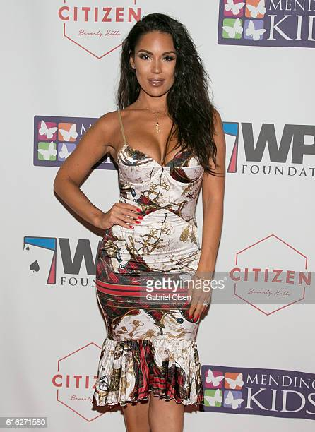 """Carissa Rosario arrives for World Poker Tour Presents """"Four Kings & an Ace"""" to benefit Mending Kids International on October 21, 2016 in Beverly..."""