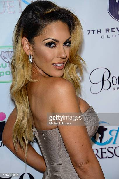 Carissa Rosario attends Babes In Toyland Charity Toy Drive at Boulevard3 on April 22 2015 in Hollywood California