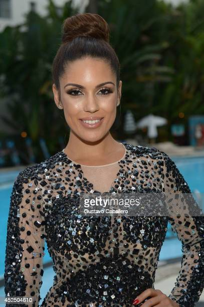 Carissa Rosario attends Mercedes-Benz Fashion Week Swim 2015 at The Raleigh on July 21, 2014 in Miami Beach, Florida.