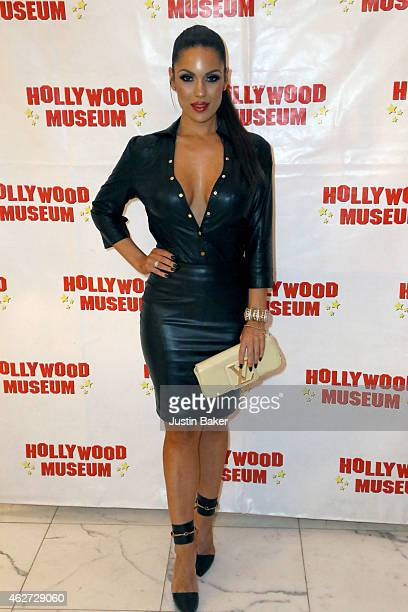 Carissa Rosario attends the Hollywood Museum Presents Annual Celebration of Entertainment Awards Exhibition at The Hollywood Museum on February 3...