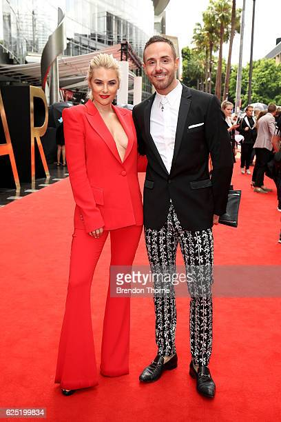 Carissa Walford and Donny Galella arrive for the 30th Annual ARIA Awards 2016 at The Star on November 23 2016 in Sydney Australia