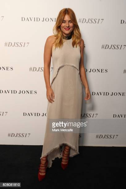 Carissa Walford arrives ahead of the David Jones Spring Summer 2017 Collections Launch at David Jones Elizabeth Street Store on August 9 2017 in...