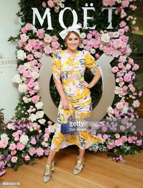 Carissa Walford attends Moet Chandon Spring Champion Stakes Day at Royal Randwick Racecourse on October 7 2017 in Sydney Australia