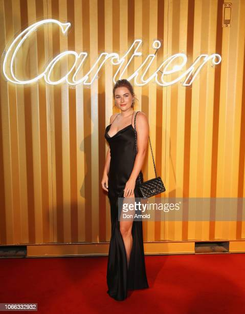 Carissa Walford attends the Cartier Precious Garage Party on November 29 2018 in Sydney Australia