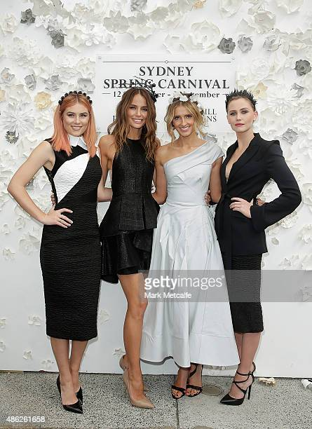 Carissa Walford Jodi Anasta Kate Waterhouse and Anna Bamford pose during the 2015 Sydney Spring Carnival launch at Royal Randwick Racecourse on...