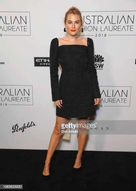 Carissa Walford poses at the 2018 Australian Fashion Laureate Awards on November 20 2018 in Sydney Australia