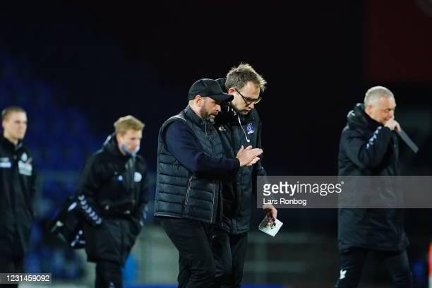 Carit Falch, head coach of Lyngby Boldklub during the Danish 3F Superliga match between Sonderjyske and Lyngby Boldklub at Sydbank Park on March 1,...