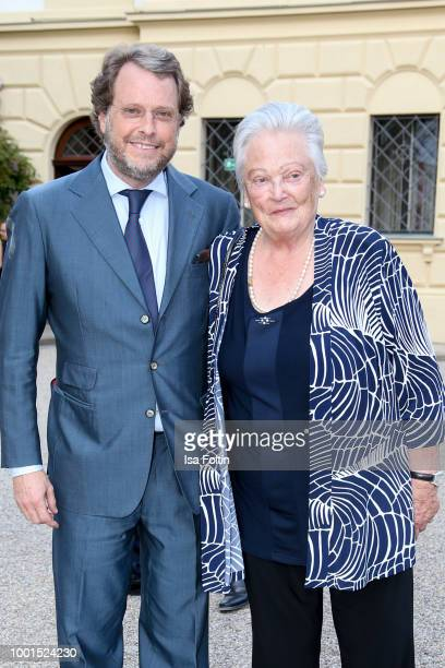 Carl Alban von SchoenburgGlauchau and Antonia von Thurn und Taxis during the Brian Ferry concert at Thurn Taxis Castle Festival 2018 on July 18 2018...