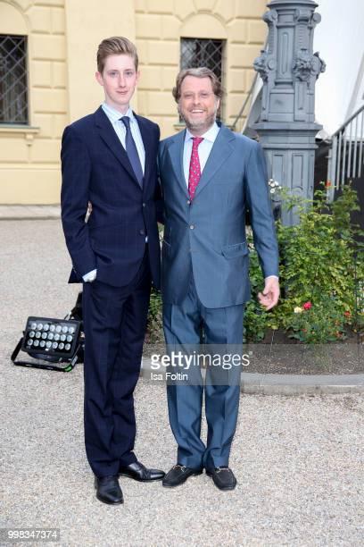 Carl Alban von SchoenburgGlauchau and his son Hubertus von SchoenburgGlauchau attends the Thurn Taxis Castle Festival 2018 'Tosca' Opera Premiere on...