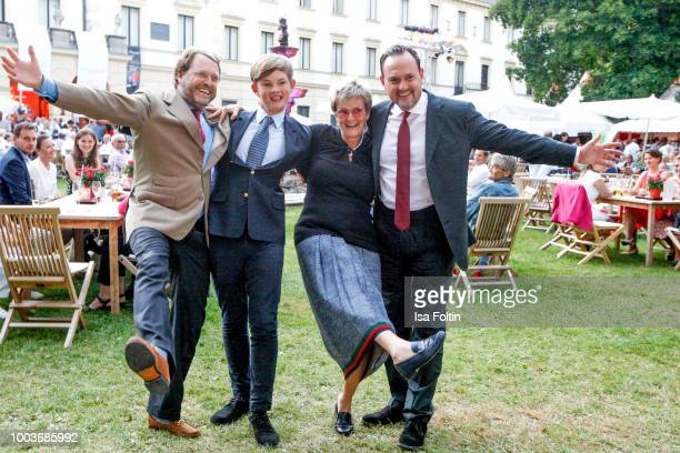 Carl Alban von SchoenburgGlauchau with his nephew Valentin von SchoenburgGleichau his sister Gloria von Thurn und Taxis and his brother Alexander von...