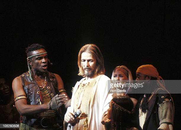 "Carl Anderson and Ted Neeley during 20th Anniversary of ""Jesus Christ Superstar"" at Universal Ampitheater in Universal City, California, United..."