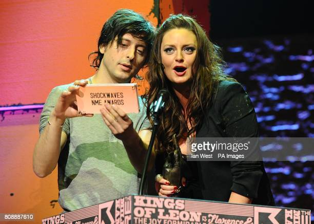 Carl Barat And Morgana Robinson Present The Best Dancefloor Filler Award On Stage During 2017