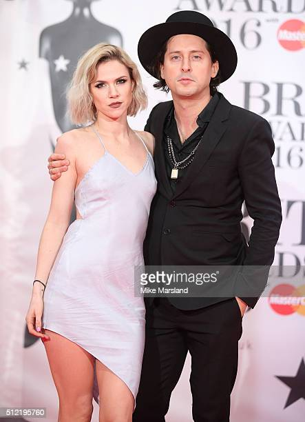 Carl Barat attends the BRIT Awards 2016 at The O2 Arena on February 24 2016 in London England
