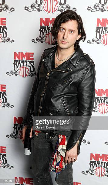 Carl Barat attends The NME Awards 2012 at The o2 Academy Brixton on February 29 2012 in London England