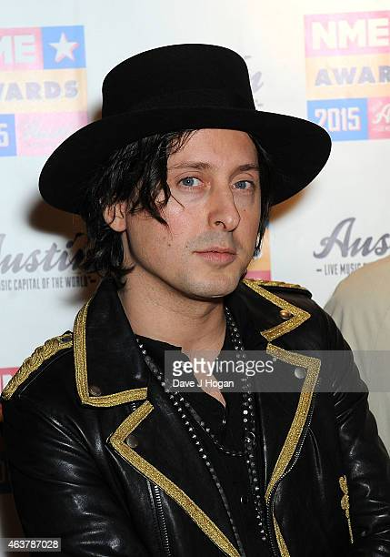 Carl Barat attends the NME Awards at Brixton Academy on February 18 2015 in London England