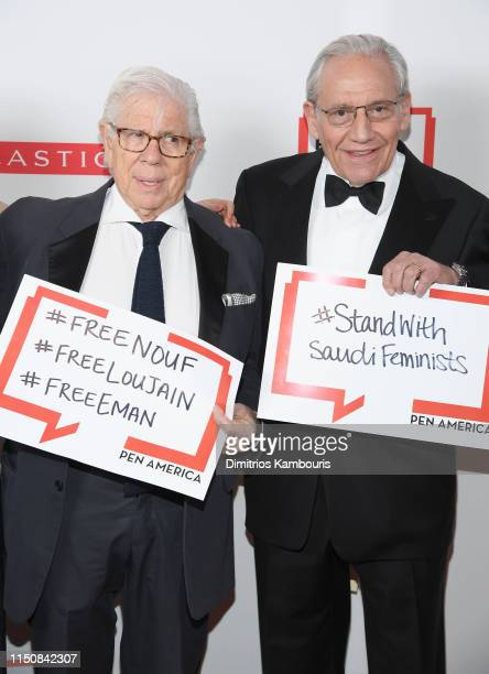 Carl Bernstein and Bob Woodward attend the 2019 PEN America Literary Gala at American Museum of Natural History on May 21 2019 in New York City