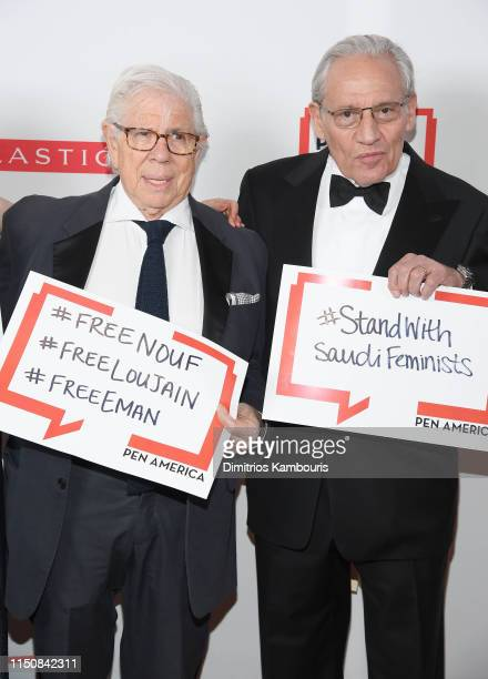 Carl Bernstein and Bob Woodward attend the 2019 PEN America Literary Gala at American Museum of Natural History on May 21, 2019 in New York City.