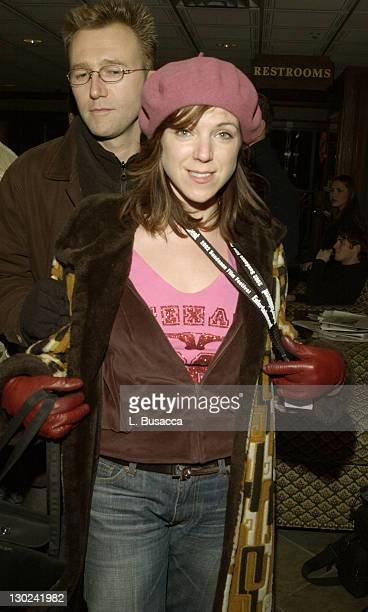 Carl Bessai Sabrina Grdevich during 2002 Sundance Film Festival Secretary Party at Lakota in Park City Utah United States