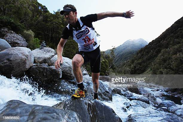 Carl Bevins of Christchurch competes in the Individual One Day event during the 2012 Speights Coast to Coast on February 11 2012 in Greymouth New...