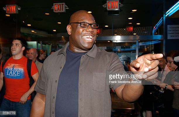 DJ Carl Cox arrives for the premiere of 24 Hour Party People at the Chelsea West Theater in New York City 8/1/02 The film is based on Tony Wilson's...