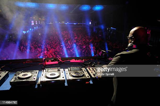Carl Cox plays at Space Opening party on May 29 2011 in Ibiza Spain
