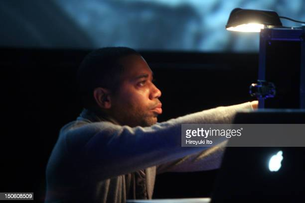 Carl Craig performing his music to Andy Warhol movie 'Blowjob' at the Walter Reade Theater on Friday night February 5 2010The performance is part of...