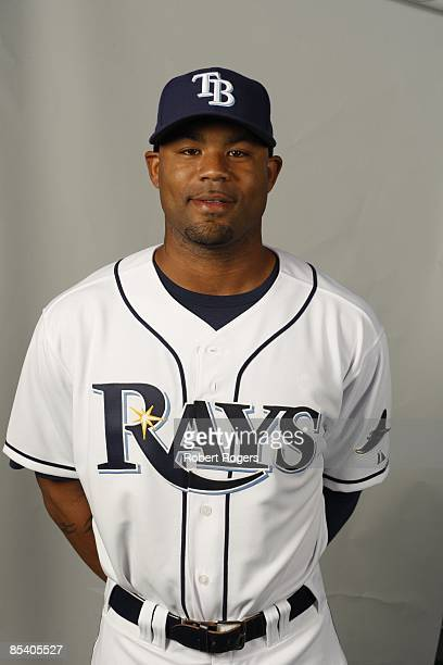 Carl Crawford of the Tampa Bay Rays poses during Photo Day on Friday February 20 2009 at Charlotte County Sports Park in Port Charlotte Florida