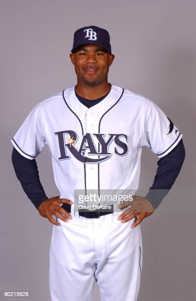 Carl Crawford of the Tampa Bay Rays poses for a portrait during photo day at Progress Energy Park on February 22 2008 in St Petersburg Florida