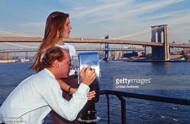 Carl Eduard von Bismarck-Schoenhausen with his second wife Celia Demaurex at New York, USA 2000.