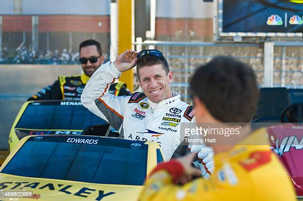 Carl Edwards attends NBC Sports' Bumper NASCAR Tour at Chase Fest in Downtown Chicago on September 17 2015 in Chicago Illinois