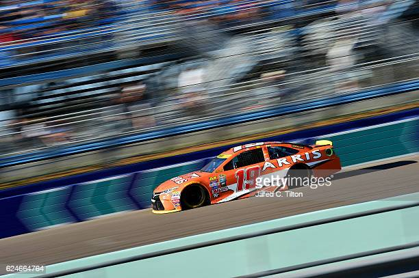 Carl Edwards driver of the ARRIS Toyota races during the NASCAR Sprint Cup Series Ford EcoBoost 400 at HomesteadMiami Speedway on November 20 2016 in...