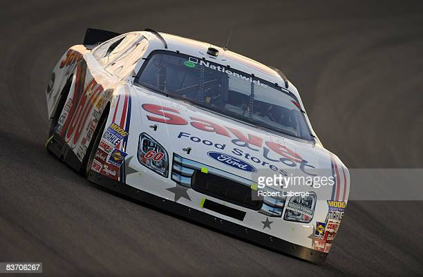 Carl Edwards driver of the Save-A-Lot Ford during the NASCAR Nationwide Series Ford 300 at Homestead-Miami Speedway on November 15, 2008 in...